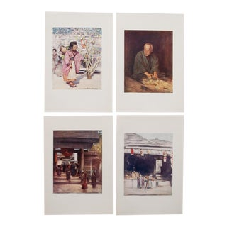 1901 Mortimer Menpes, Japan Original Period Lithographs, Set of 4 For Sale