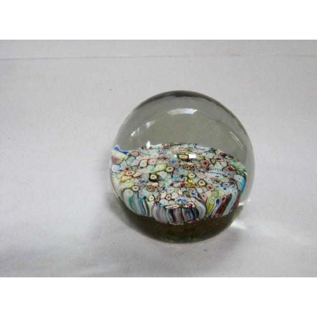 Italian Italian Murano Glass Millefiori Paperweight For Sale - Image 3 of 5