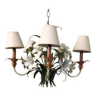 20th Century Italian Tole Chandelier For Sale