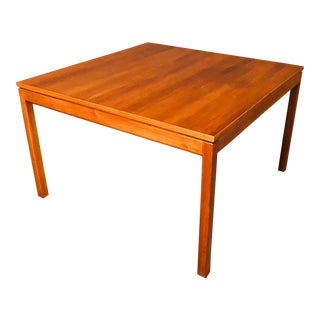 1960s Vintage Jens Risom Co. Walnut Coffee Table For Sale