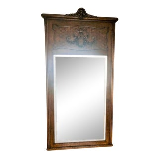 19th Century Antique Full-Length English Mirror For Sale