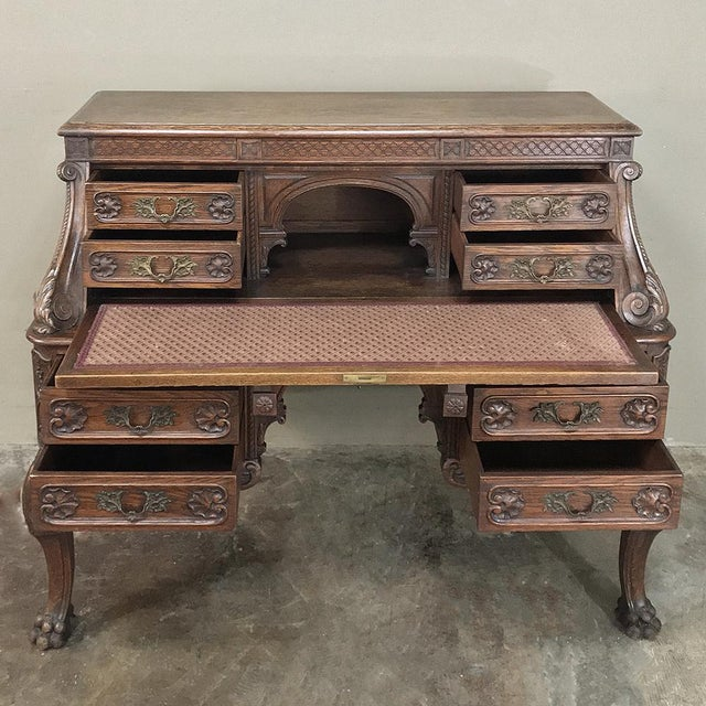 19th Century French Louis XIV Secretary For Sale - Image 10 of 13