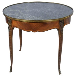 French Louis XV Style Round Table, 19th Century For Sale