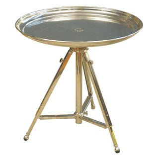Adjustable Metal Side Table For Sale