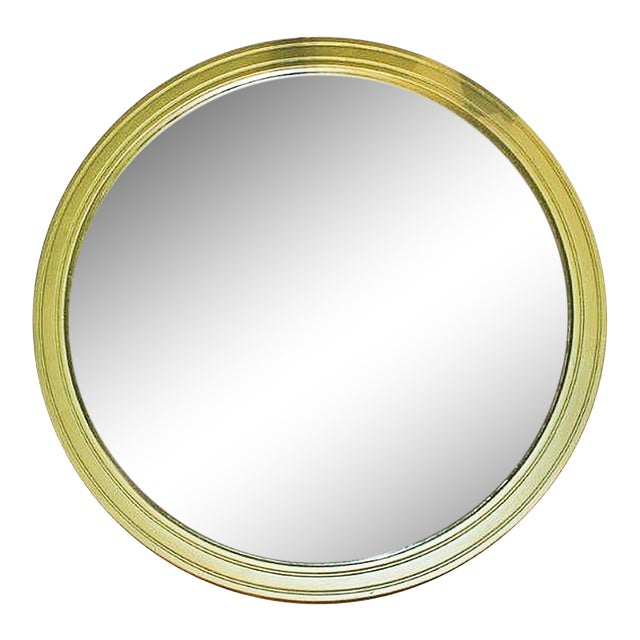 Large Round Painted Mirror - Image 1 of 5
