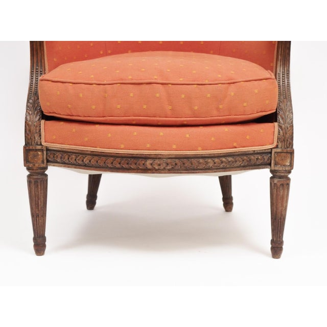 "Louis XVI Style Bergere ""En Gondole"" For Sale In New Orleans - Image 6 of 9"