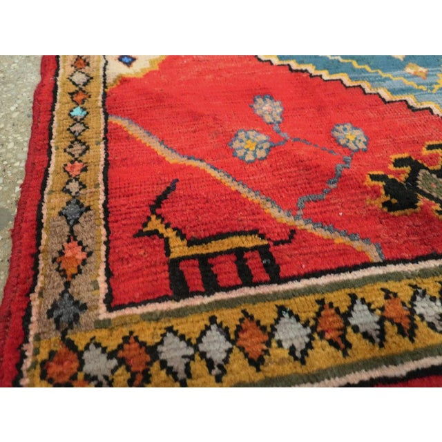 "Vintage Persian Mahal Rug – Size: 2' 9"" X 2' 11 For Sale In New York - Image 6 of 10"