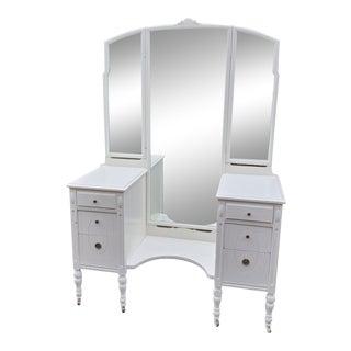 Vintage 1923 Triple Mirror Vanity For Sale