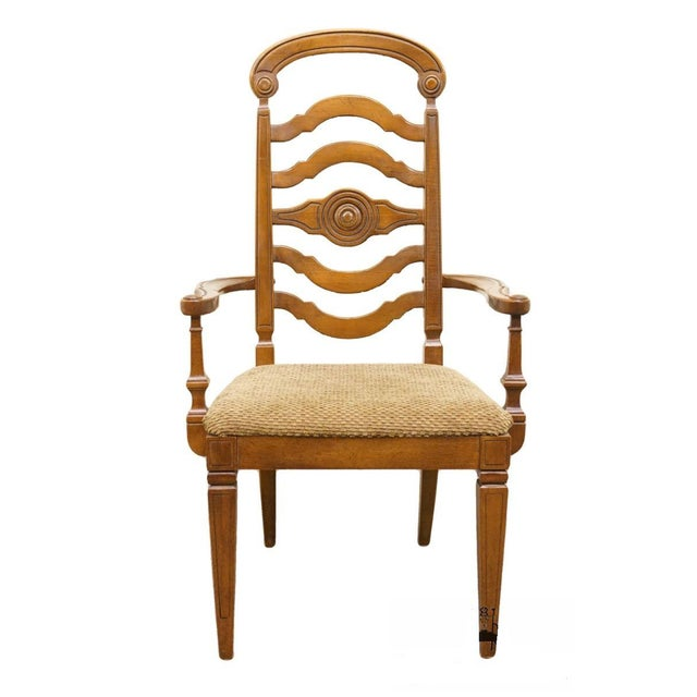 Thomasville Furniture Italian Provincial Tuscan Dining Arm Chair For Sale - Image 10 of 10