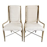 Image of 1970s Vintage Weiman/Warren Lloyd for Mastercraft Dining Chairs- A Pair For Sale