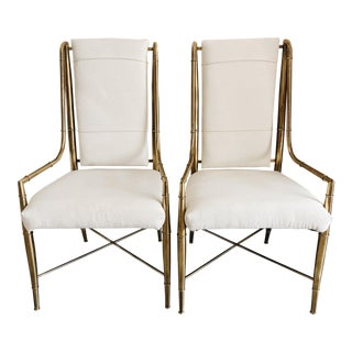 1970s Vintage Weiman/Warren Lloyd for Mastercraft Dining Chairs- A Pair For Sale