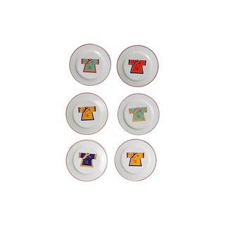 Kimono Canapé Plates - Set of 6
