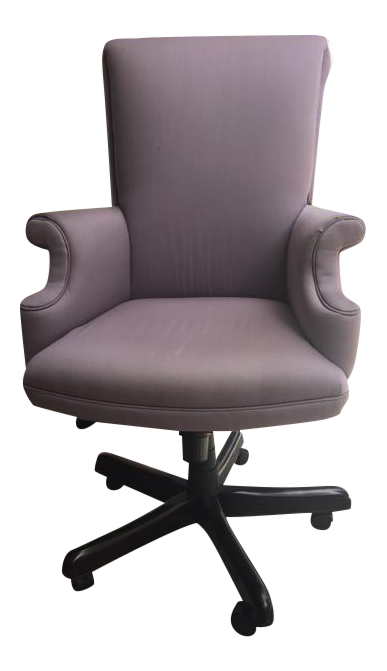 upholstered office chairs. Lavender Upholstered Office Chair - Image 1 Of 5 Chairs R