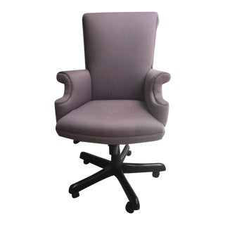 Lavender Upholstered Office Chair