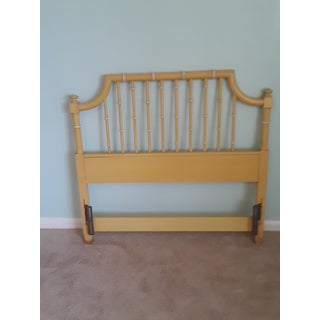 20th Century Chinoiserie Thomasville Twin Faux Bamboo Pagoda Headboard Preview