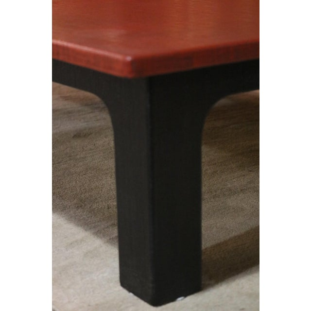 1940s Japanese Red Lacquer Coffee Table For Sale - Image 4 of 6