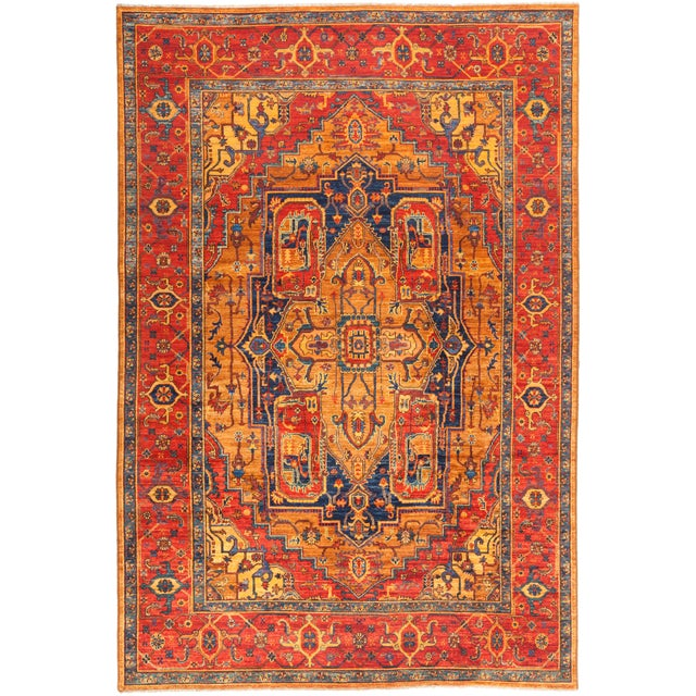 """Serapi Hand Knotted Area Rug - 6' 9"""" X 10' 2"""" For Sale - Image 4 of 4"""