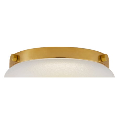 Art Deco Visual Comfort Brass Flush Mount For Sale - Image 3 of 3