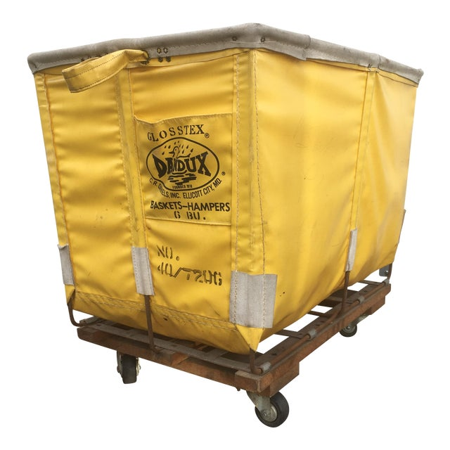 Yellow Dandux Laundry Cart For Sale