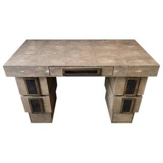 Shagreen Desk, by R & Y Augousti, Paris For Sale