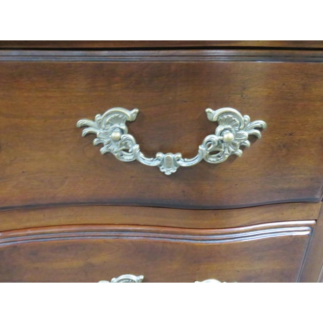 Metal Hickory Chair Co. Louis XV Style Marbletop Chest For Sale - Image 7 of 9
