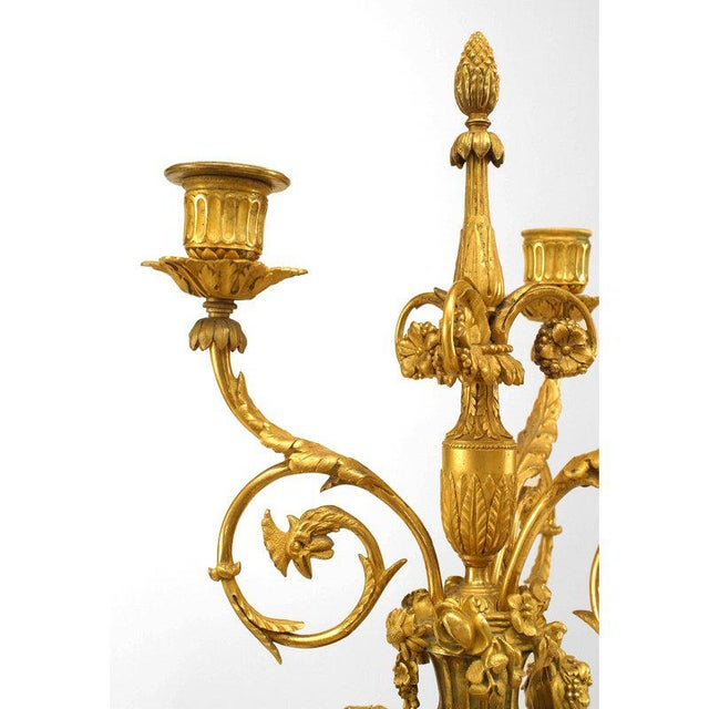 Late 19th Century Pair of 1879 French Ormolu-Trimmed Marble Candelabrum by Henry Dasson For Sale - Image 5 of 7