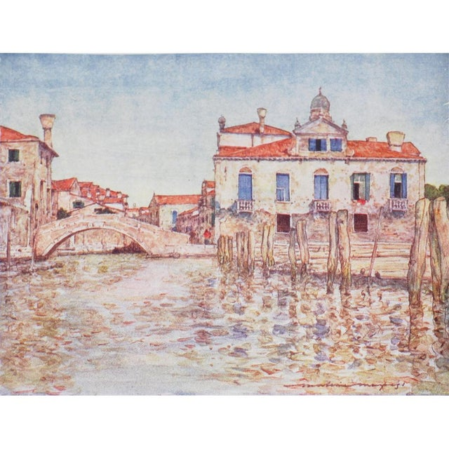 1910s 1912 Mortimer Menpes, Venice Original Period Lithographs, Set of 4 For Sale - Image 5 of 7