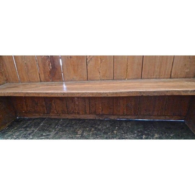19th Century English Stained Pine Church Pew For Sale - Image 9 of 12