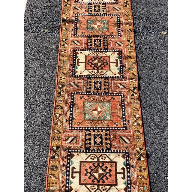 """2'8""""x9'7"""" 70yr Old Vintage Persian Karajeh Runner"""