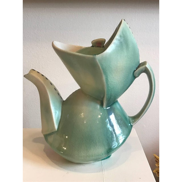 Cubist Style Contemporary Teapot by Deborah Schwartzkopf For Sale - Image 9 of 9