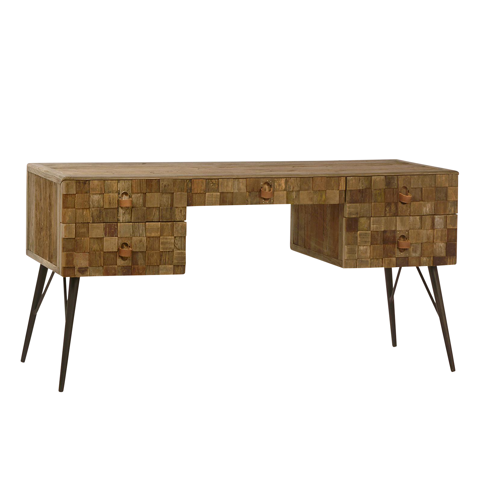 Reclaimed Wood Patchwork Desk For Sale
