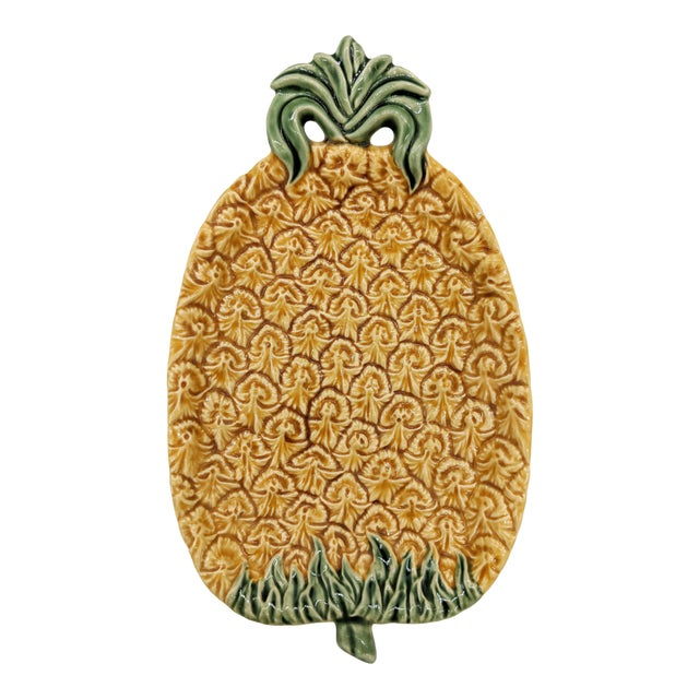 Bordallo Pinheiro Majolica Pineapple Platter For Sale