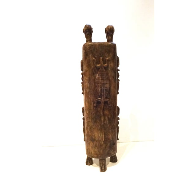 Vintage Dogon Carved Wood Tobacco Leaf Box - Image 8 of 9