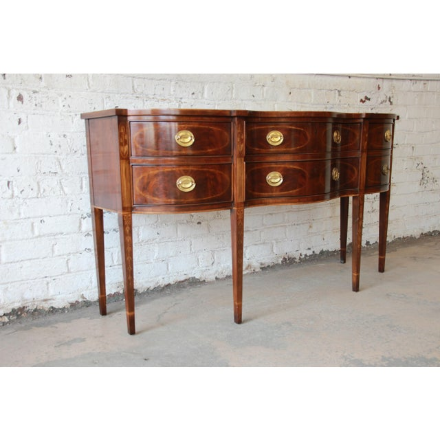 Drexel Heritage Heirlooms Collection Inlaid Mahogany Sideboard For Sale - Image 5 of 11
