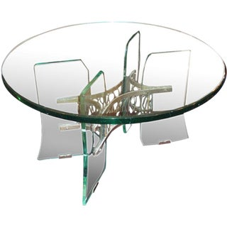 Pietro Chiesa for Fontana Arte Rare Crystal Occasional Table
