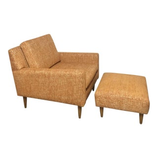 Mid Century American Lounge Chair and Ottoman
