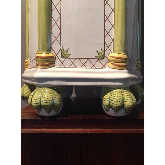 20th Century Asian Modern Oversize Hand-Painted Tulipiere (Flower Holder) For Sale In Houston - Image 6 of 8