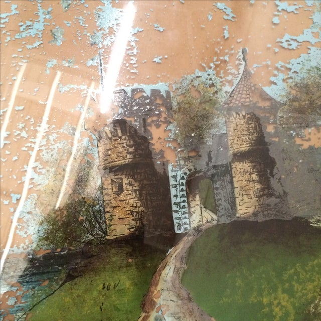 Painting of Castle - Reverse Painting on Glass - Image 4 of 6