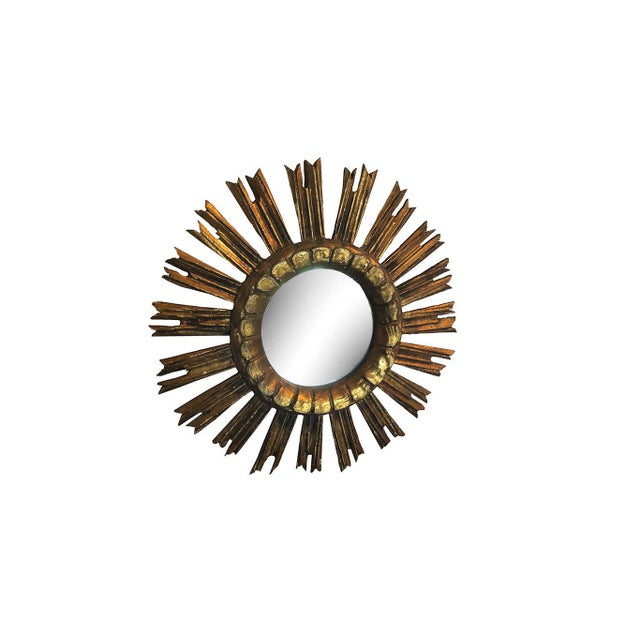 Early 20th Century Vintage French Sunburst Mirror For Sale - Image 5 of 6
