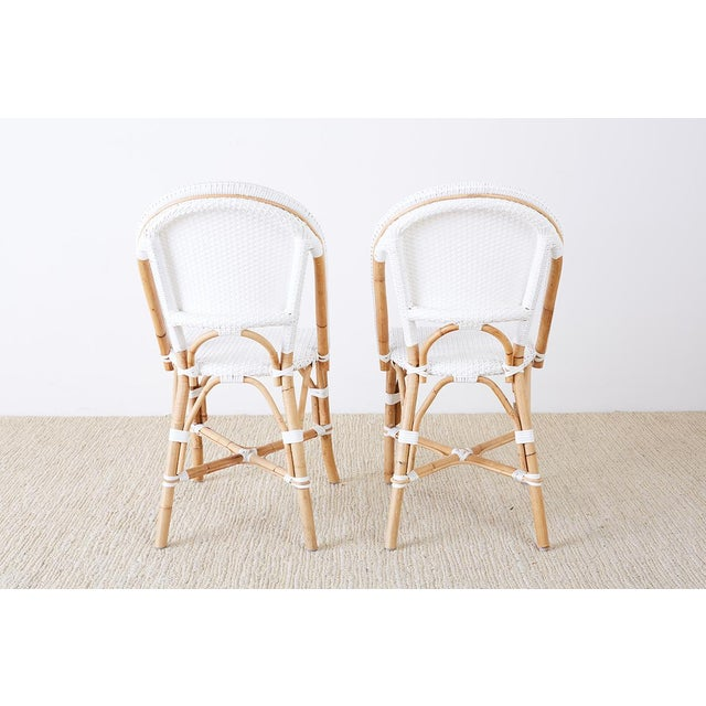Serena and Lily Bamboo Riviera Rattan French Bistro Chairs For Sale - Image 9 of 13