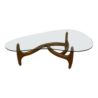 Adrian Pearsall Craft Associates Kidney Shaped Coffee Table For Sale