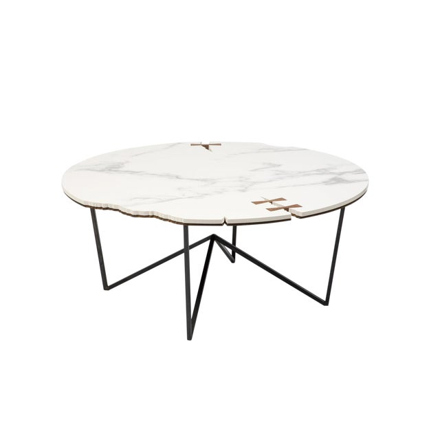 Stone Forest Circle Coffee Table For Sale