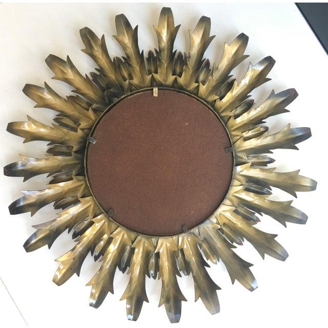 Mid-Century Modern Round Sunburst Mirror - Image 6 of 7