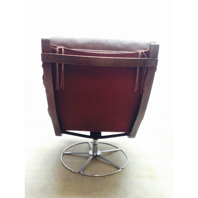 Bruno Mathsson for Dux Swivel Base Lounge Chair For Sale - Image 10 of 10