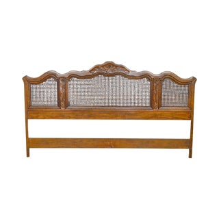 Drexel Heritage Cabernet Collection French Country Style King Size Caned Headboard