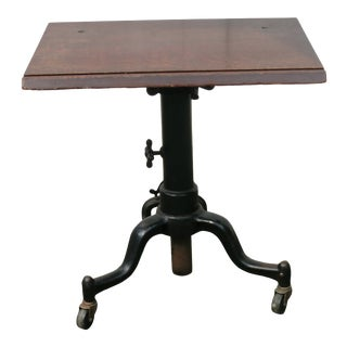 Antique Industrial Typewriter Table For Sale