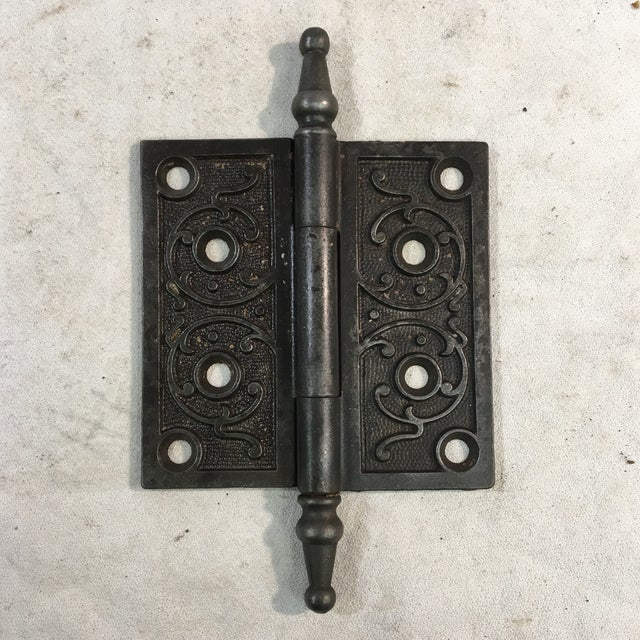 Late 19th Century Antique Victorian Eastlake Steeple Tip Door Hinge For Sale - Image 5 of 11