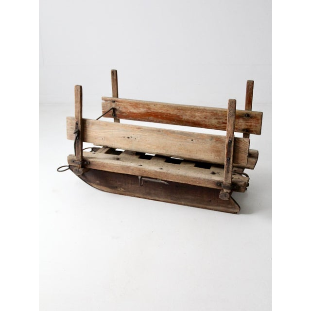 Late 19th Century Antique Primitive Sled For Sale - Image 5 of 13
