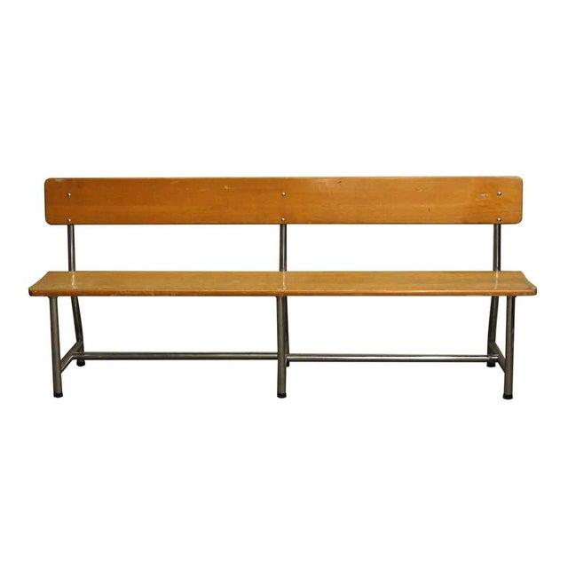 Auditorium Wood & Chrome Bench - Image 2 of 5