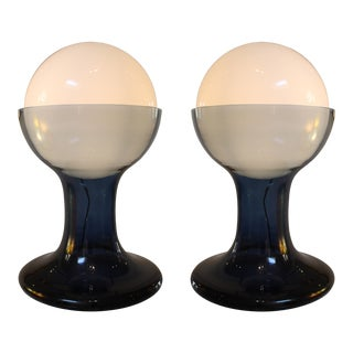 1960s Table Lamp Model Lt 216 by Carlo Nason for Mazzega - a Pair For Sale